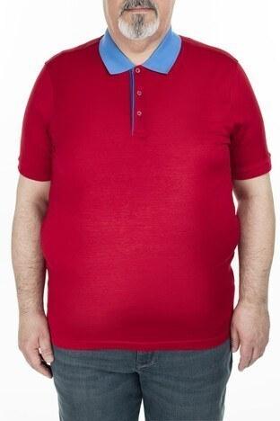 Abbate - Abbate Büyük Beden Polo Erkek T Shirt 5913023 KIRMIZI