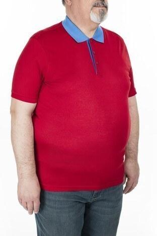 Abbate Büyük Beden Polo Erkek T Shirt 5913023 KIRMIZI