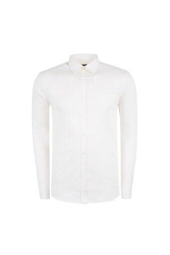 ABBATE Erkek Uzun Kollu Gömlek 1GM81UK0375S950 KEMİK