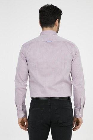 ABBATE Erkek Uzun Kollu Gömlek 1GM81UK0872S 706 BORDO