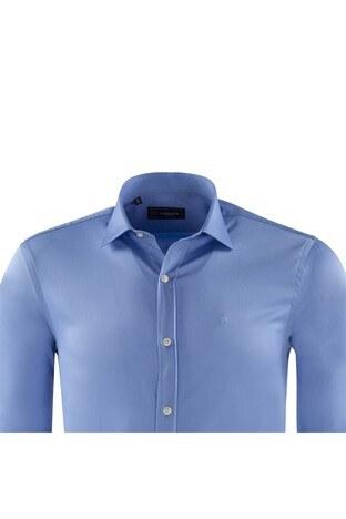 ABBATE Erkek Uzun Kollu Gömlek 1GM82UK0375S567 MAVİ