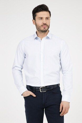 Abbate - ABBATE Erkek Uzun Kollu Gömlek 1GM91UK0111S 555 AÇIK MAVİ