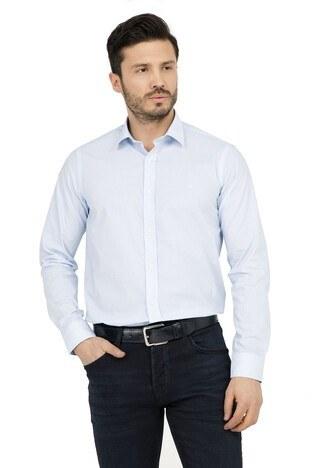 Abbate - ABBATE Erkek Uzun Kollu Gömlek 1GM91UK0111S 568 ORTA-MAVİ