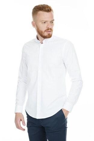 Abbate - Abbate Erkek Uzun Kollu Gömlek 1GM91UK0111S 900 BEYAZ