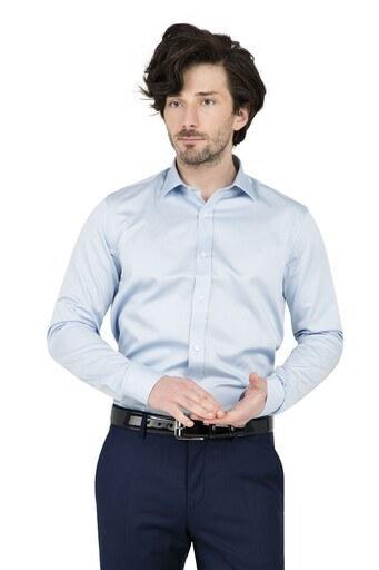 ABBATE Erkek Uzun Kollu Gömlek 1GM91UK0375S 556 MAVİ