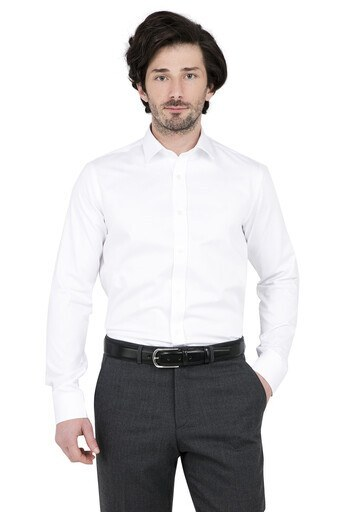 ABBATE Erkek Uzun Kollu Gömlek 1GM91UK0375S 900 BEYAZ