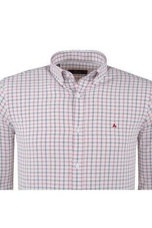 ABBATE Erkek Uzun Kollu Gömlek 1GM91UK1214S600 KIRMIZI