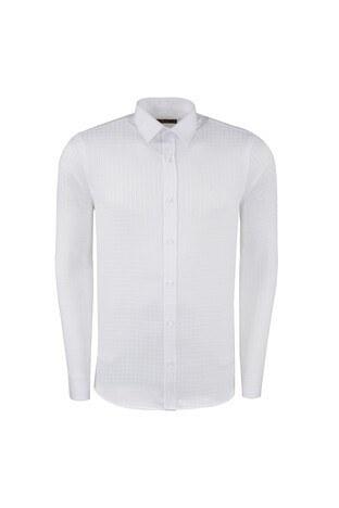 ABBATE Erkek Uzun Kollu Gömlek 1GM91UK1218S901 BEYAZ