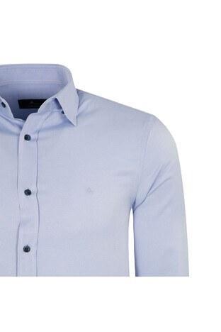ABBATE Erkek Uzun Kollu Gömlek 1GM91UK1219S554 MAVİ