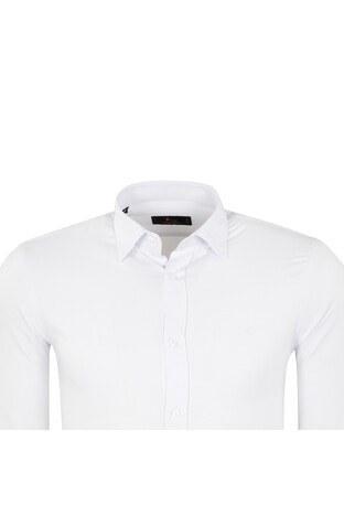 ABBATE Erkek Uzun Kollu Gömlek 1GM91UK1219S900 BEYAZ
