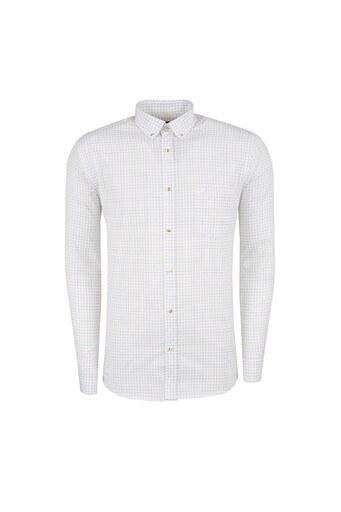 ABBATE Erkek Uzun Kollu Gömlek 1GM91UK1220R530 LACİVERT-KAHVE