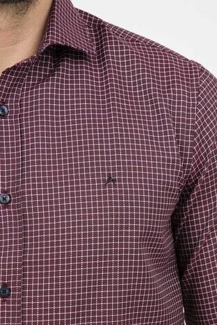 ABBATE Erkek Uzun Kollu Gömlek 1GM91UK1231S 706 BORDO