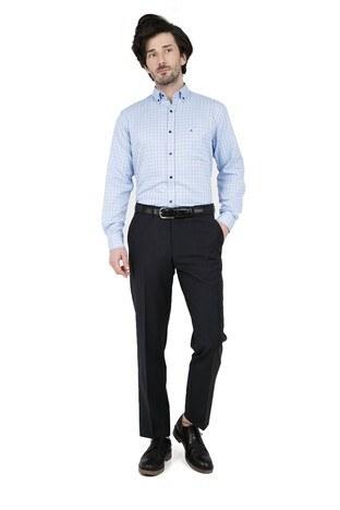 ABBATE Erkek Uzun Kollu Gömlek 1GM91UK1233R 551 MAVİ
