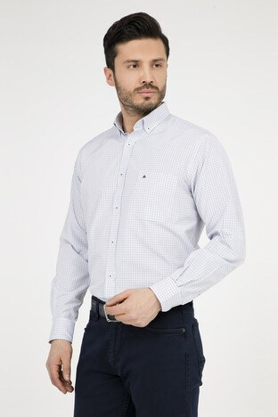 ABBATE Erkek Uzun Kollu Gömlek 1GM91UK1234R 555 AÇIK MAVİ