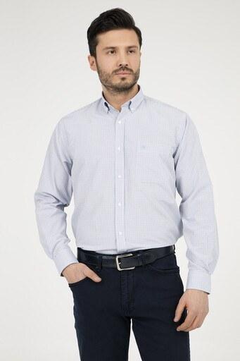 ABBATE Erkek Uzun Kollu Gömlek 1GM91UK1234R 568 ORTA-MAVİ