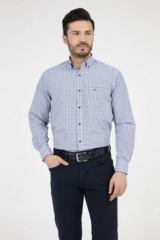 ABBATE Erkek Uzun Kollu Gömlek 1GM91UK1234R 570 ORTA-MAVİ
