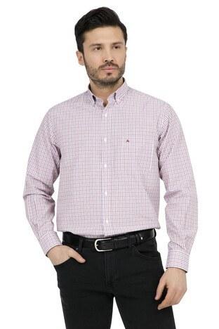 Abbate - ABBATE Erkek Uzun Kollu Gömlek 1GM91UK1234R 600 KIRMIZI