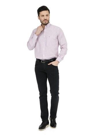 ABBATE Erkek Uzun Kollu Gömlek 1GM91UK1234R 600 KIRMIZI