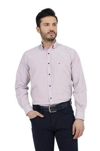 ABBATE Erkek Uzun Kollu Gömlek 1GM91UK1234R 610 KIRMIZI