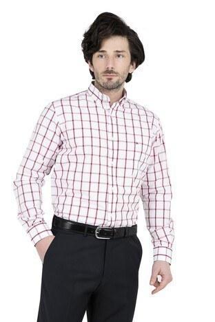 ABBATE Erkek Uzun Kollu Gömlek 1GM91UK1238R 706 BORDO