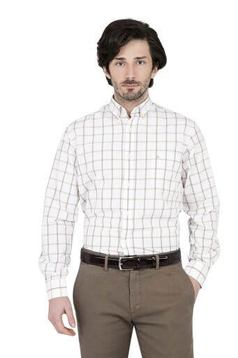 ABBATE Erkek Uzun Kollu Gömlek 1GM91UK1238R 860 BEJ