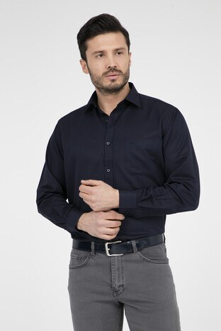 ABBATE Erkek Uzun Kollu Gömlek 1GM91UK1240R 500 SİYAH