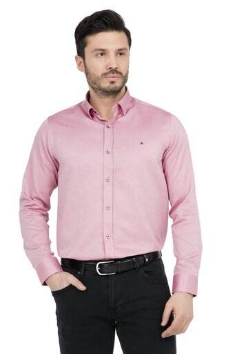 ABBATE Erkek Uzun Kollu Gömlek 1GM91UK1243S 600 KIRMIZI