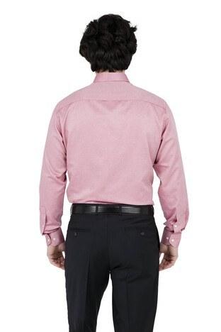 ABBATE Erkek Uzun Kollu Gömlek 1GM91UK1244R 600 KIRMIZI