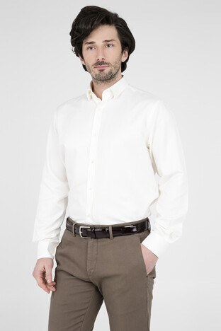 ABBATE Erkek Uzun Kollu Gömlek 1GM91UK1244R 850 KREM