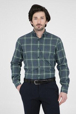ABBATE Erkek Uzun Kollu Gömlek 1GM91UK1251R 805 YEŞİL