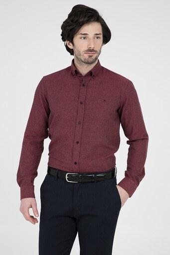 ABBATE Erkek Uzun Kollu Gömlek 1GM91UK1255S 610 KIRMIZI