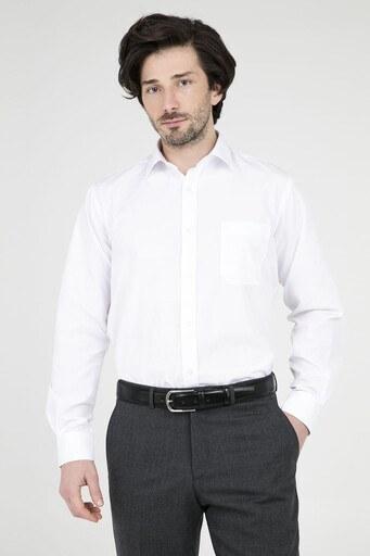 ABBATE Erkek Uzun Kollu Gömlek 1GM91UK1260R 900 BEYAZ