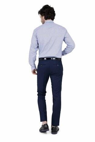 ABBATE Erkek Uzun Kollu Gömlek 1GM91UK1263R 567 ORTA-MAVİ