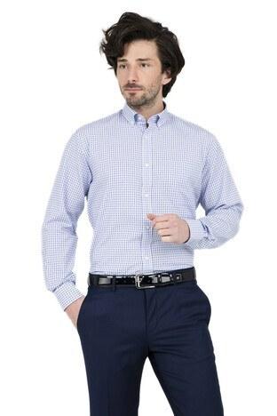 ABBATE Erkek Uzun Kollu Gömlek 1GM91UK1266R 567 ORTA-MAVİ
