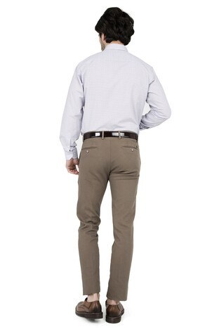 ABBATE Erkek Uzun Kollu Gömlek 1GM91UK1266R 860 BEJ