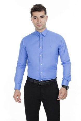 Abbate Erkek Uzun Kollu Gömlek 1GM92UK1275S580 KOYU MAVİ