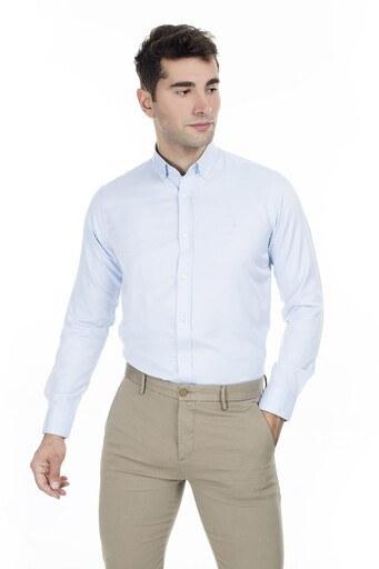 Abbate Erkek Uzun Kollu Gömlek 1GM92UK1276S554 AÇIK MAVİ