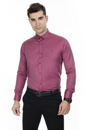 Abbate Erkek Uzun Kollu Gömlek 1GM92UK1276S706 BORDO
