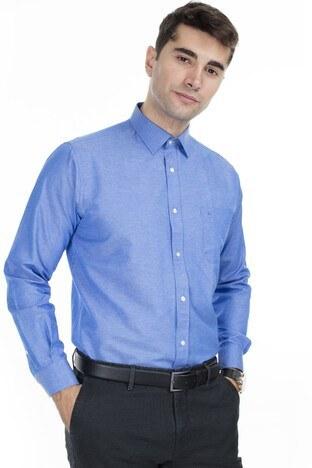 Abbate Erkek Uzun Kollu Gömlek 1GM92UK1281R580 KOYU MAVİ