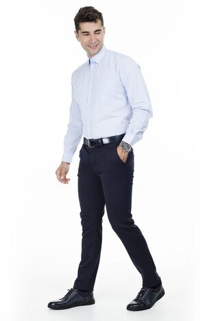 Abbate Erkek Uzun Kollu Gömlek 1GM92UK1282R554 AÇIK MAVİ
