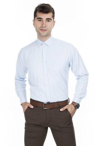 Abbate Erkek Uzun Kollu Gömlek 1GM92UK1295R551 MAVİ
