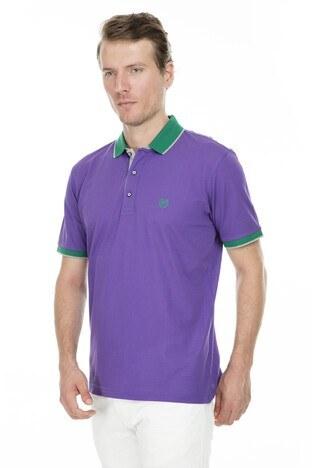 Abbate - Abbate Polo Erkek T Shirt 5913021 MOR