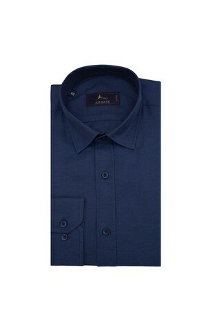 Abbate Uzun Kollu Slim Fit Gömlek Erkek Uzun Kollu Gömlek 1GM91UK1241S 506 LACİVERT