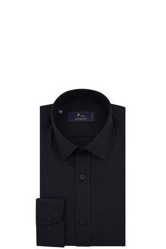Abbate Uzun Kollu Slim Fit Gömlek Erkek Uzun Kollu Gömlek 1GM91UK1258S500 SİYAH