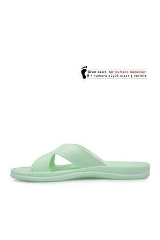 Akınalbella Bayan Terlik E140000Z Florasan Yeşil