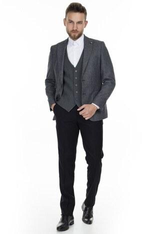 Altınyıldız - Altınyıldız Slim Fit Kombinli Erkek Takım Elbise 4A3120100103 YLD6 SİYAH-GRİ