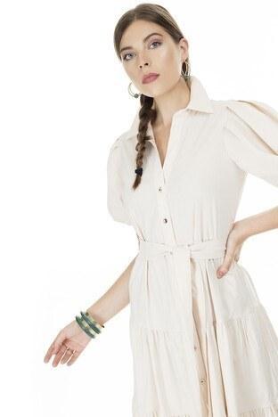 Ayhan Gömlek Yaka Bayan Elbise 04661462 TAŞ