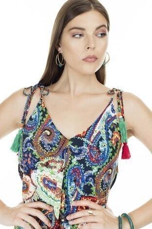 Ayhan V Yaka Bayan Elbise 04661475 KIRMIZI