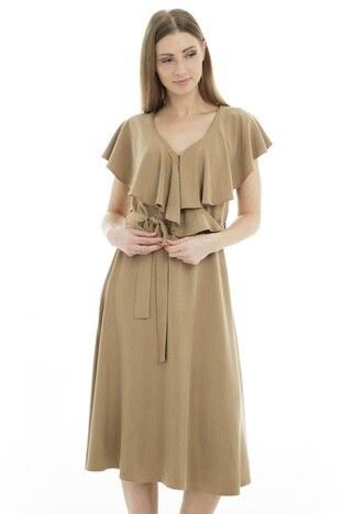 Bebe Plus Bayan Elbise 38722709 CAMEL