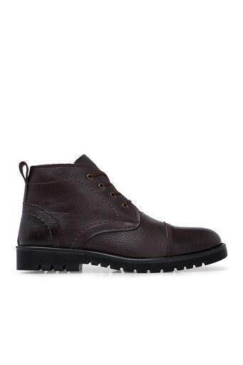 Boots Fermuarlı Deri Erkek Bot 552660 KAHVE